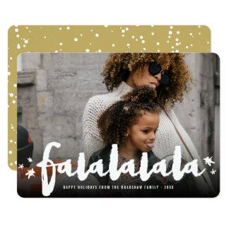 A escova de Falalalala Stars o cartão com fotos
