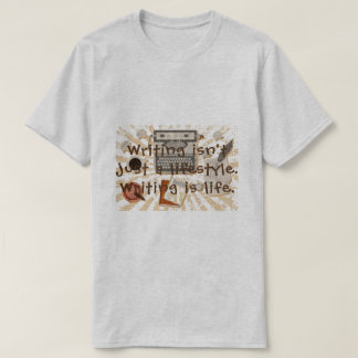 A escrita é T da vida Camiseta
