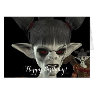 A escuridão vem cartão de aniversário bonito da