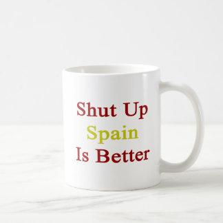 A espanha acima fechada é melhor caneca de café