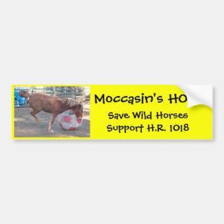 A ESPERANÇA do mocassim - salvar cavalos selvagens Adesivo Para Carro