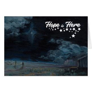 A esperança está aqui cartão