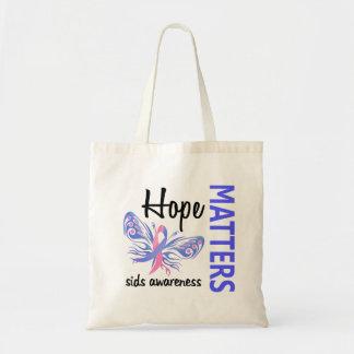 A esperança importa a borboleta SIDS Bolsas De Lona