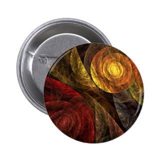 A espiral do botão da arte abstracta da vida (redo bóton redondo 5.08cm