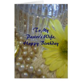 A esposa do pastor do feliz aniversario - cartão comemorativo