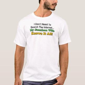 A esposa jamaicana sabe-o todo camiseta