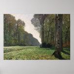 A estrada a Bas-Breau, Fontainebleau, c.1865 Posters