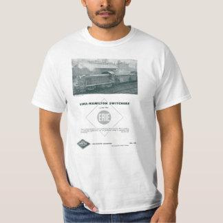 A estrada de ferro de Erie usa o t-shirt dos