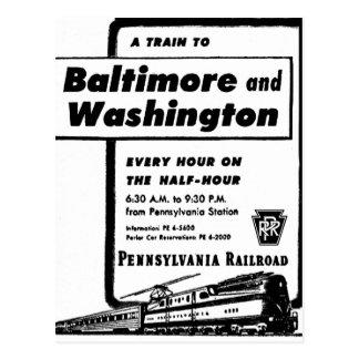 A estrada de ferro de Pensilvânia treina de hora Cartão Postal