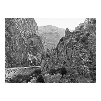 A estrada que transforma nas montanhas foto
