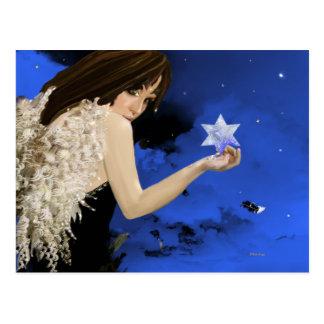 A estrela azul! cartoes postais