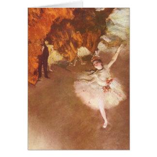 A estrela (bailarina de Prima) por Edgar Degas Cartão Comemorativo