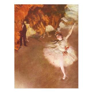 A estrela (bailarina de Prima) por Edgar Degas Cartão Postal