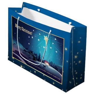A estrela de Bethlehem. As bolsas feitas sob Sacola Para Presentes Grande