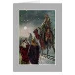 A estrela de Bethlehem. Cartão
