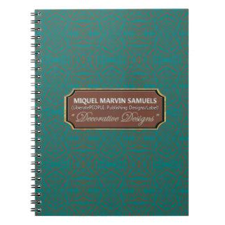 A estrela estourou o caderno moderno azul