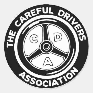 A etiqueta cuidadosa da associação dos motoristas