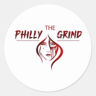 A etiqueta da moagem de Philly