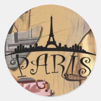 A etiqueta de Paris 2, lustrosa, 3 avança (a folha