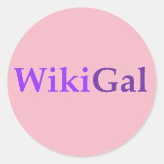 A etiqueta de Wikigal