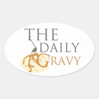 A etiqueta diária mas do molho é um Oval