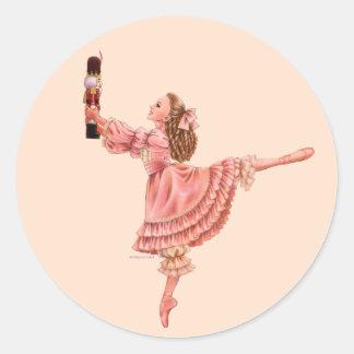 A etiqueta do balé do Nutcracker