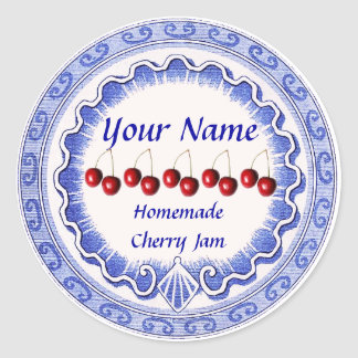 A etiqueta do doce de cereja personaliza