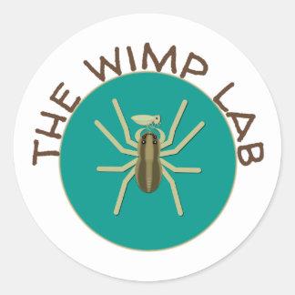 A etiqueta do laboratório do Wimp