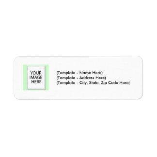 A etiqueta escolhe a linha lisa da cor seu modelo etiqueta endereço de retorno