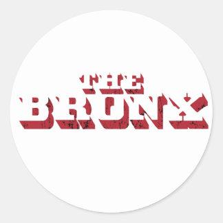 A etiqueta grande da letra de Bronx