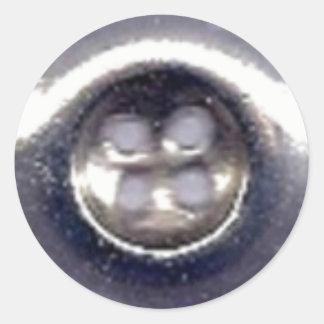 A etiqueta redonda clássica | do botão de prata