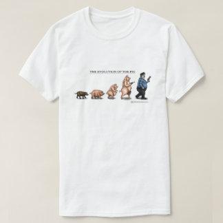A evolução do porco camiseta