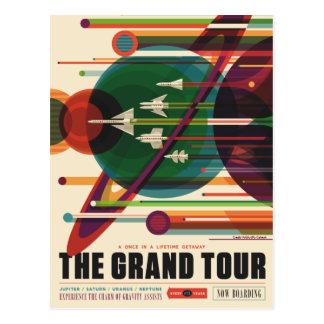 A excursão grande - cartão retro do poster de