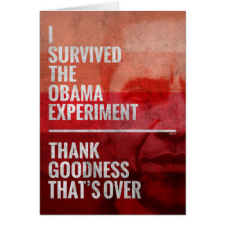 A experiência de Obama Cartão Comemorativo