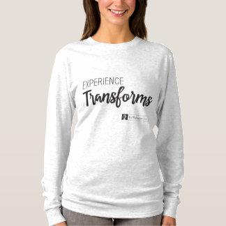 A experiência transforma a camisa de algodão por