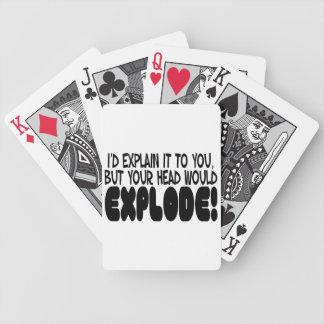 A explicação faria a cabeça explodir carta de baralho