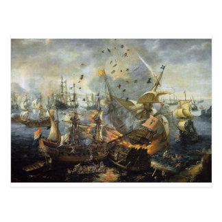 A explosão da capitânia espanhola cartão postal