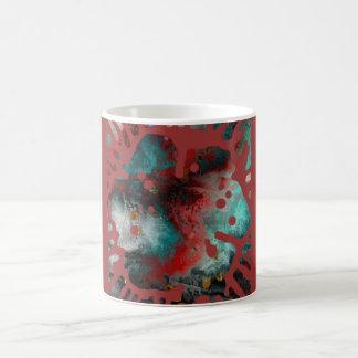 A explosão da flor da pintura caneca de café