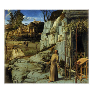 A êxtase de St Francis por Giovanni Bellini Posteres