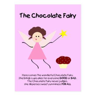A fada do chocolate cartoes postais