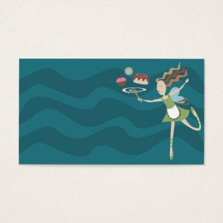 a fada do cozinhar do cozimento whisk o cartão de