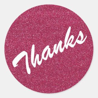 A faísca cor-de-rosa agradece à etiqueta