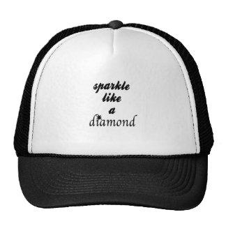 A faísca gosta de um diamante boné