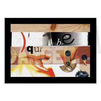 A Falso-Colagem 01 de Hannah - perigo Cartão Comemorativo