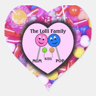 A família de Lolli Adesivo Coração