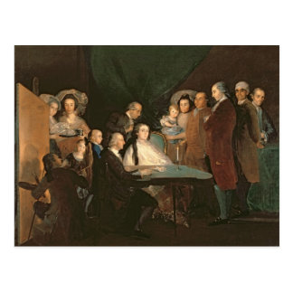 A família do Infante Don Luis de Borbon Cartão Postal