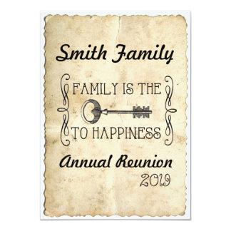 A família é a chave à reunião de família da
