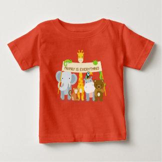 a família é tudo t-shirt fino do jérsei do bebê camiseta para bebê