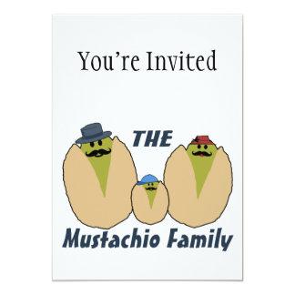 A família italiana do Mustachio Convite 12.7 X 17.78cm