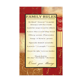 A família ordena a chapa envolvida canvas impressão de canvas envolvida